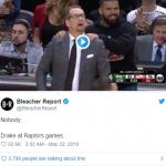 Drake Annoys some fans at the Bucks VS Raptor Game 4