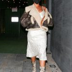 Rihanna in her favorite Jacket and Amina Muaddi Heels